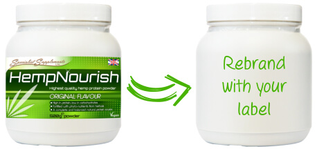 Private label hemp protein powder