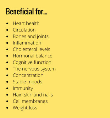 Omega 3-6-9 Oils benefits