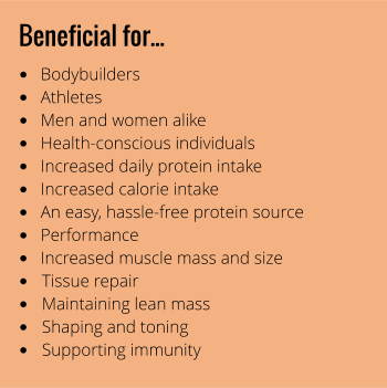 Whey Complex PRO (chocolate flavour) benefits