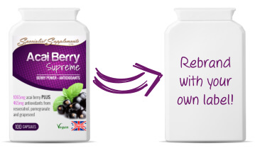 Private label acai berry capsules