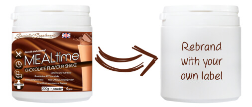Private label chocolate meal shake