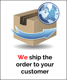 We ship the order to your customer