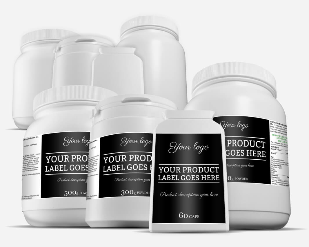 Get your own range of health supplements