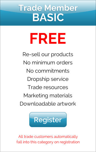 It's free to become a trade customer!