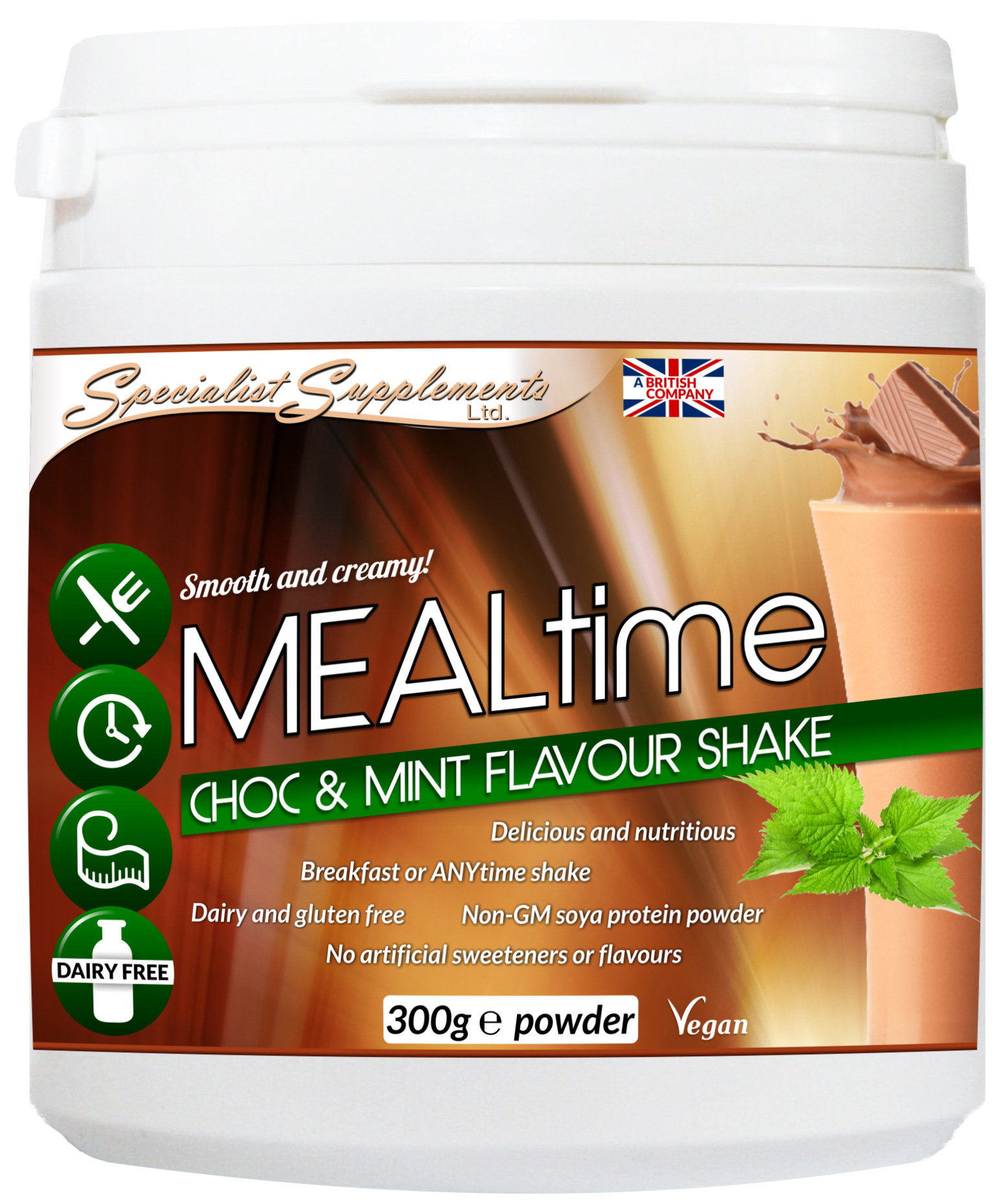 Wholesale chocolate and mint meal shake